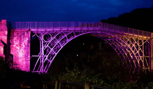 See the Iron Bridge lit up in all its glory