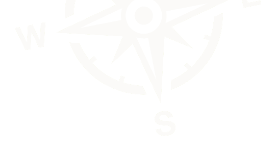 Illustration of a compass, showing North, South, East and West