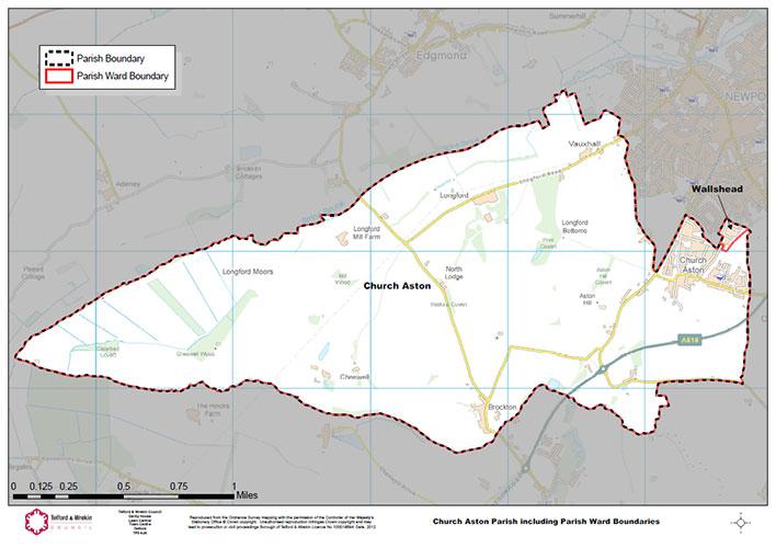Church aston Parish map