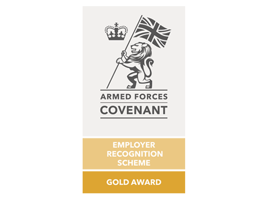 Illustration of the armed forces gold award