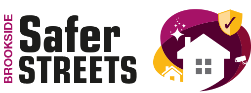 Image of the Brookside safer streets graphic logo