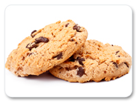 A photograph of cookies