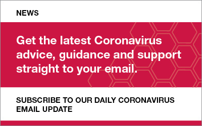 coronavirus newsletter sign up advert