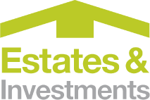 Illustration of the Estates and Investments logo