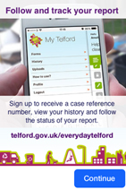 Everyday Telford help screen