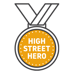 High street hero icon