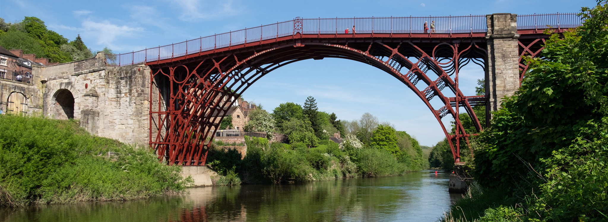 A view of the Iron Bridge from the River Severn.