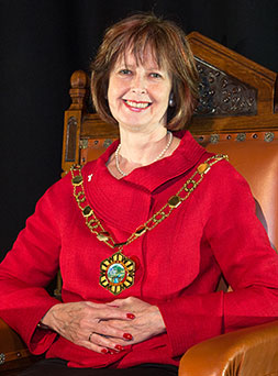 Photograph of the Telford &Wrekin Council mayor Rae-Evans