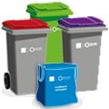 Request additional or replacement bins, bags, or containers