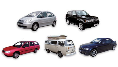 Illustration of vehicles you can use without a permit at HRCs