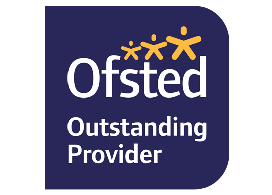 A picture of the Ofsted outstanding provider logo