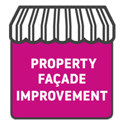Property facade improvements icon