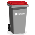 Red top bin