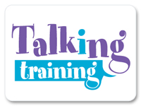 Talking training logo
